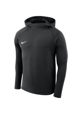 Nike Boys' Nike Dry Academy18 Football Hoodie (BLACK/ANTHRACITE/ANTHRACITE/WHITE)